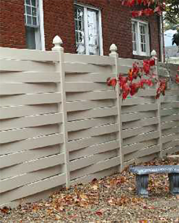 basketweave yard fence