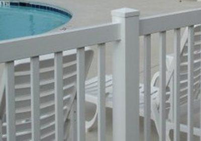 closed top vinyl fence